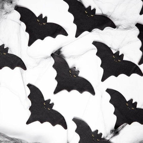 20 Halloween Bat Napkins - HoorayDays