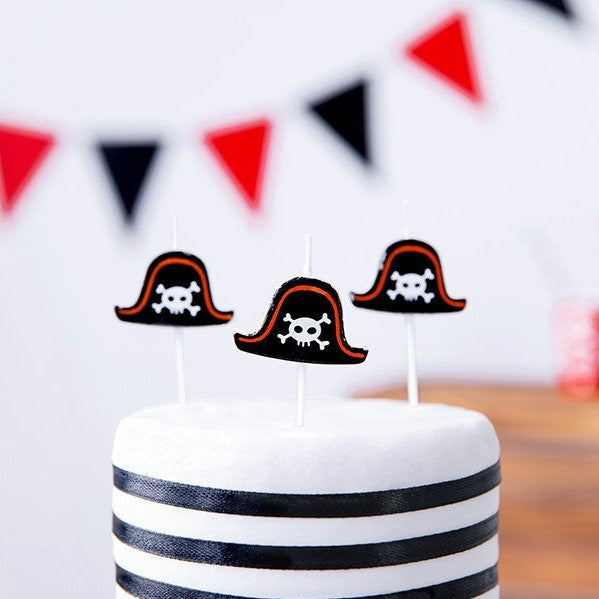 5 Pirate Party Candles - HoorayDays