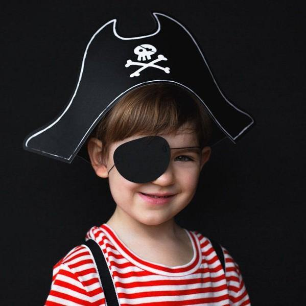 1 Pirate Party Hat and Eye Patch - HoorayDays