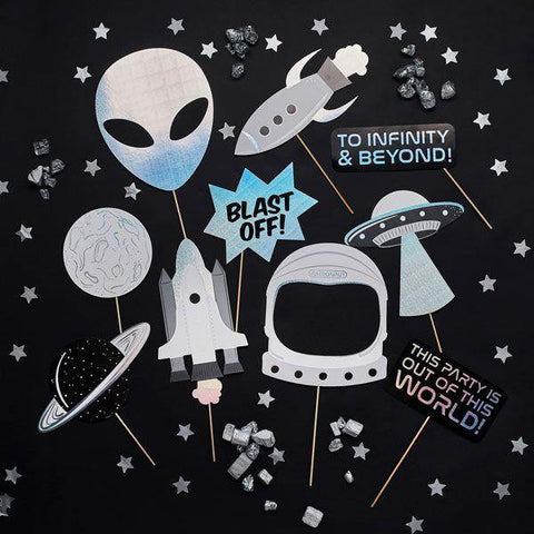 10 Space Party Photo Booth Props - HoorayDays