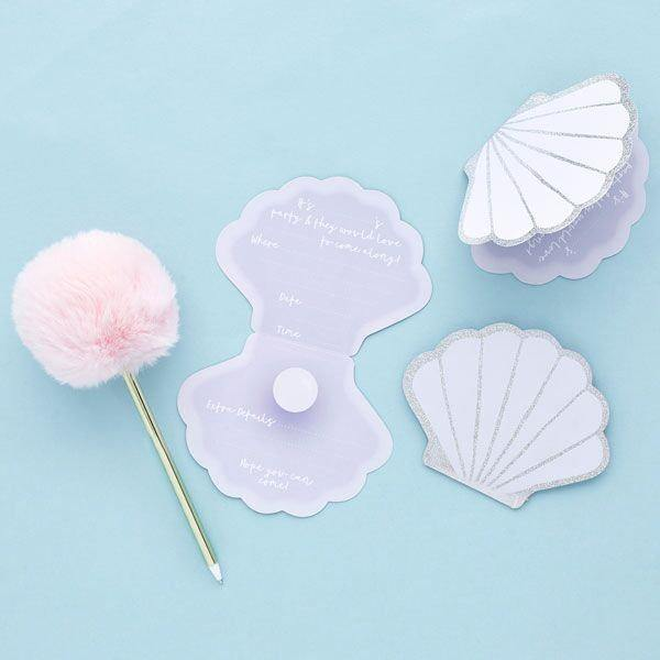 10 Shell Party Invites - HoorayDays