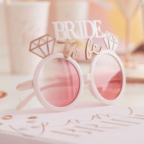 Blush Rose Gold Bride to Be Glasses - HoorayDays