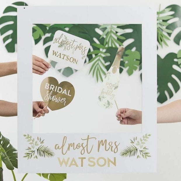 Gold Almost Mrs Custom Hen Party Frame - HoorayDays