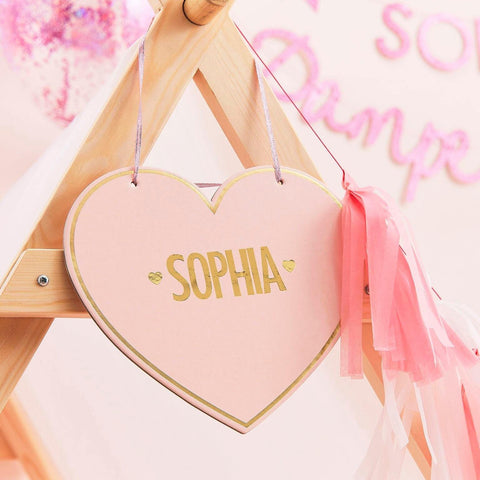 4 Pink Pamper Hanging Sign - HoorayDays