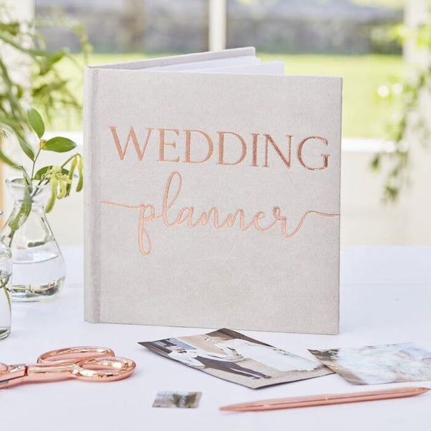 Grey Rose Gold Wedding Planner - HoorayDays