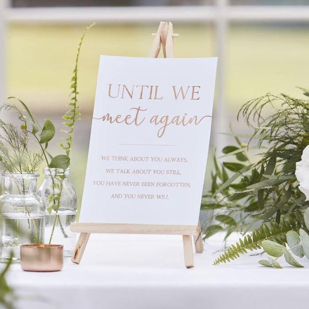 Rose Gold Commemorative Wedding Table Sign - HoorayDays