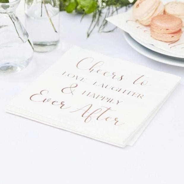 16 Rose Gold Napkins - HoorayDays