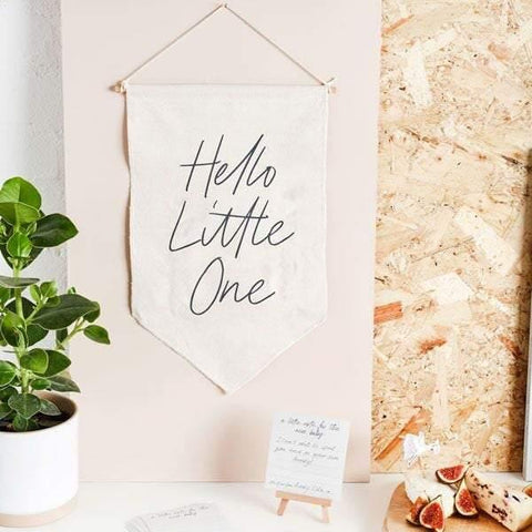 Hello Little One Baby Shower Sign and Cards - HoorayDays