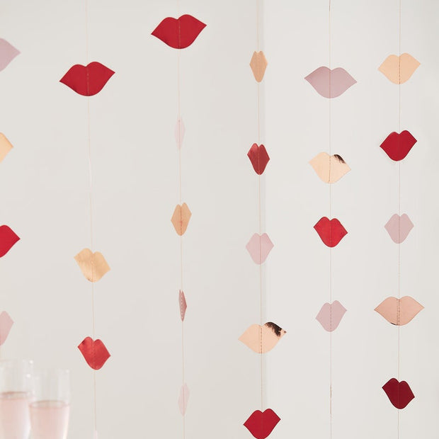 Rose Gold Lips Party Backdrop - HoorayDays