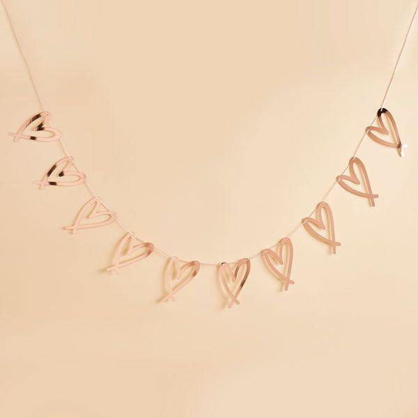 Rose Gold Heart Hen Party Bunting - HoorayDays