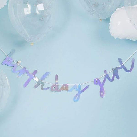 Birthday Girl Iridescent Bunting - HoorayDays