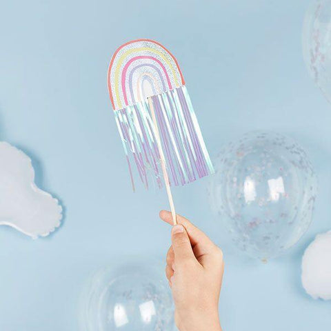 5 Rainbow Fairy Wands - HoorayDays