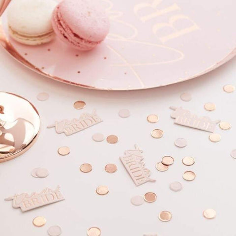 Blush Rose Gold Hen Party Confetti - HoorayDays