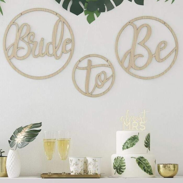 Wooden Bride to Be Hoops - HoorayDays