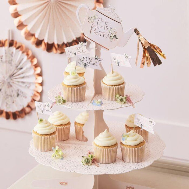 Blush Tea Party Cake Stand - HoorayDays