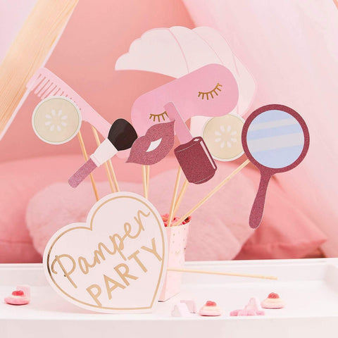 10 Pink Pamper Party Photo Booth Props - HoorayDays