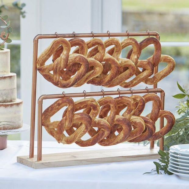 Copper Frame Pretzel Food Display - HoorayDays
