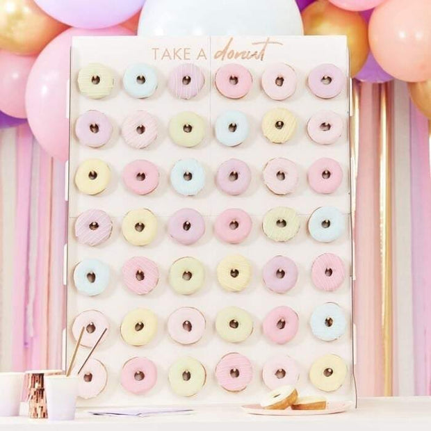 Large Pastel and Rose Gold Donut Wall - HoorayDays