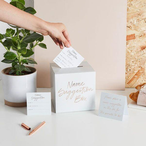 20 Baby Shower Name Suggestion Box - HoorayDays