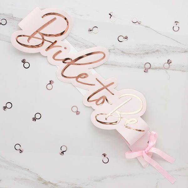 Rose Gold and Pink Bride to Be Sash - HoorayDays