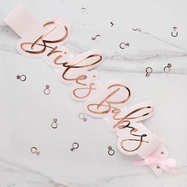 5 Rose Gold Blush Hen Party Sashes - HoorayDays