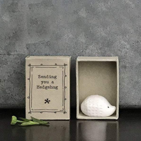East of India Porcelain Hedgehog Matchbox Gift - HoorayDays