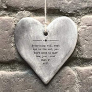 Everything Will Work Out Hanging Heart Decoration - HoorayDays