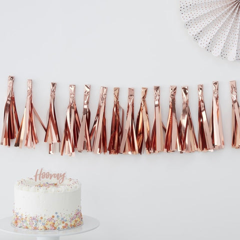 Rose Gold Tassel Garland - HoorayDays
