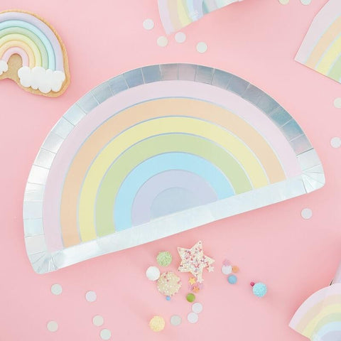Pastel and Iridescent Rainbow Plates