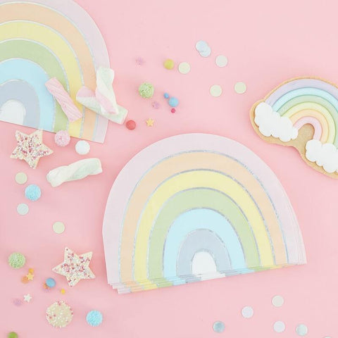 Pastel and Rainbow Party Napkins