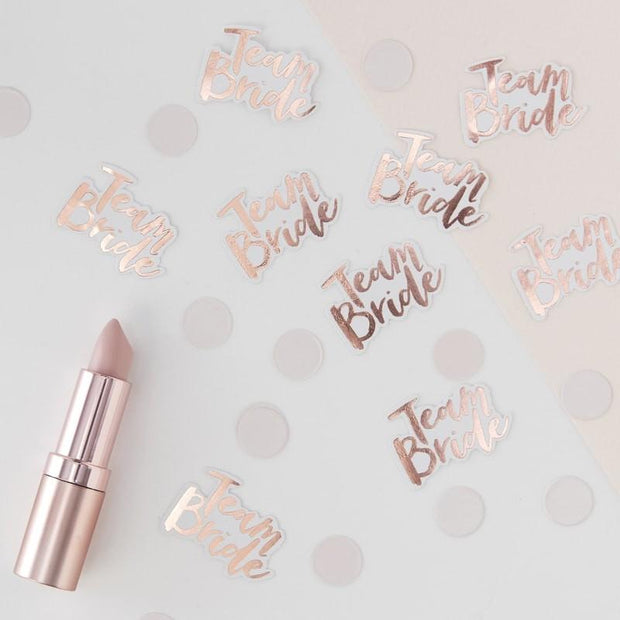 Rose Gold Team Bride Confetti - HoorayDays