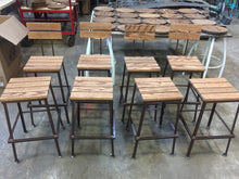 Backless Nantucket Stools - Hammered in Time