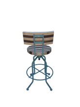 Contemporary Wood and Steel Stool, Commercial Stool, Swivel Bar stool