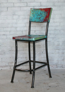 Metal Bar Stool - The Cantina - Hammered in Time