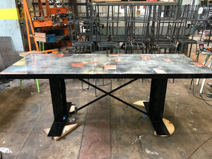Copper and Zinc Patchwork Table tops
