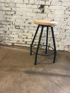 Backless swivel bar stool- swivel bar stool - counter height stool - swivel stool