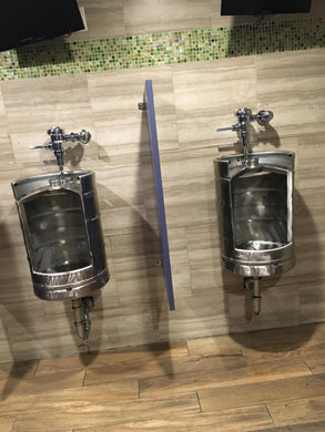 The Keg Urinal- Hammered In Time - Urinal, Stainless Steel Urinal
