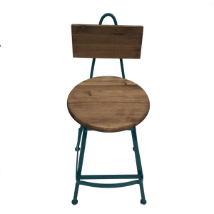 Modern Colorful Pub Stool with Back