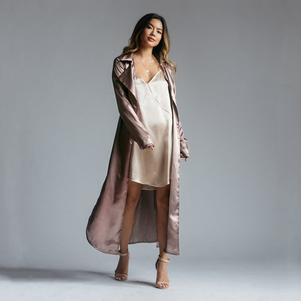 Juliana Trench Coat in Taupe