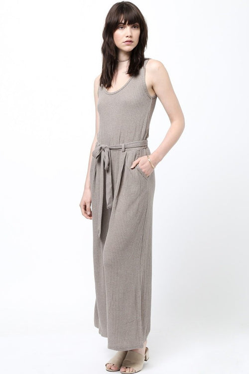 Chill Vibes Knit Jumpsuit in Taupe - Jumpsuit - BKLYN Bodies - BKLYN Bodies