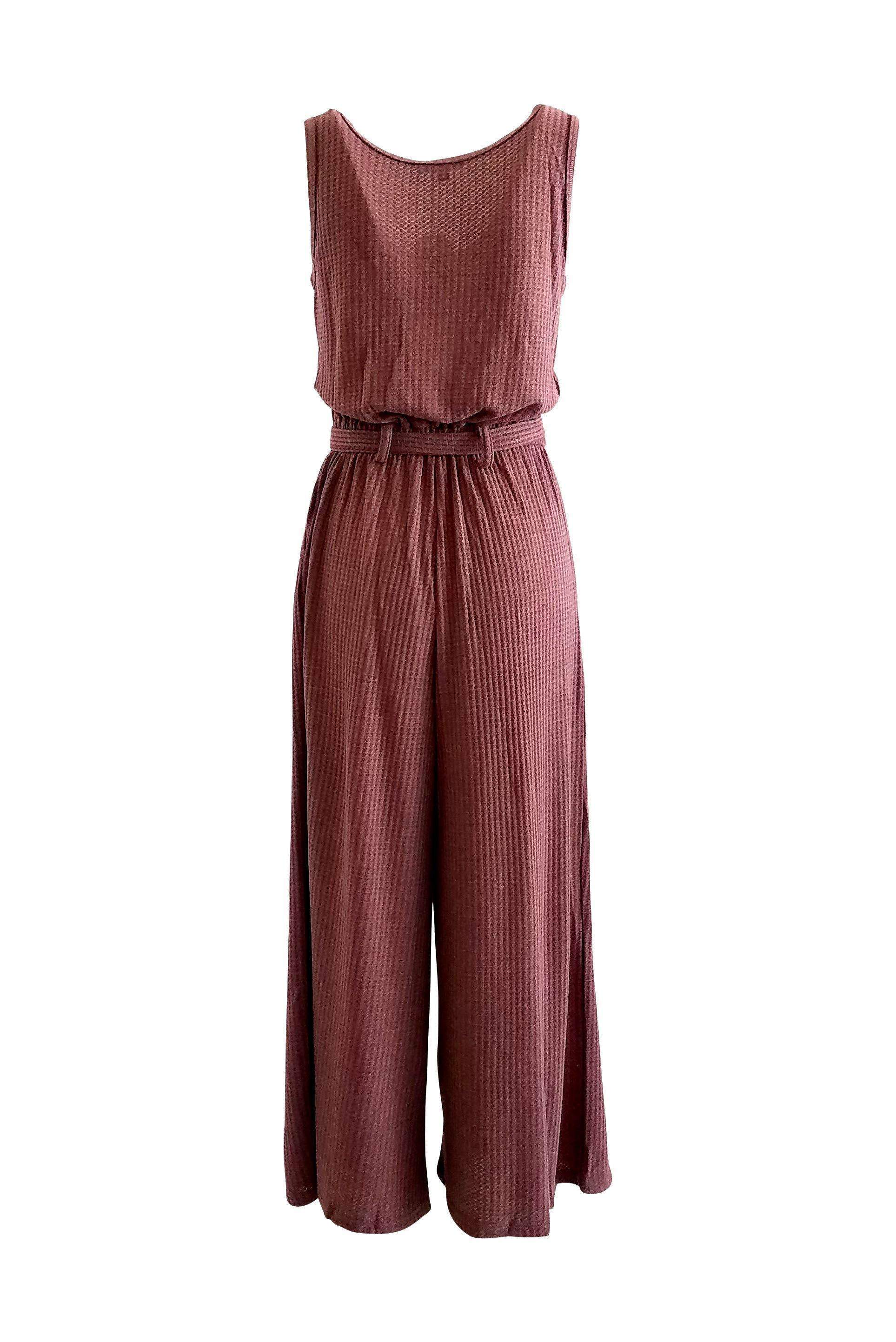 Chill Vibes Knit Jumpsuit in Wine - Jumpsuit - Very J - BKLYN Bodies