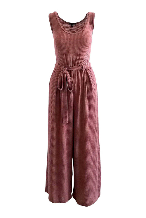 Chill Vibes Knit Jumpsuit in Wine - Jumpsuit - BKLYN Bodies - BKLYN Bodies
