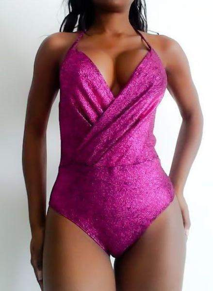 Crown Heights Pink Metallic Bodysuit - Bodysuit - Bear Dance - BKLYN Bodies