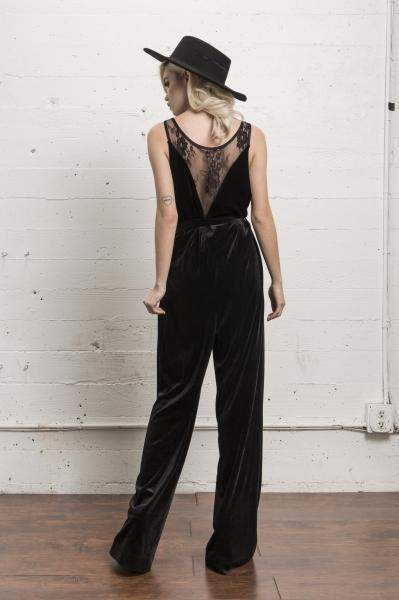 Fort Hamilton Velvet Jumpsuit in Black - Jumpsuit - WYLDR - BKLYN Bodies