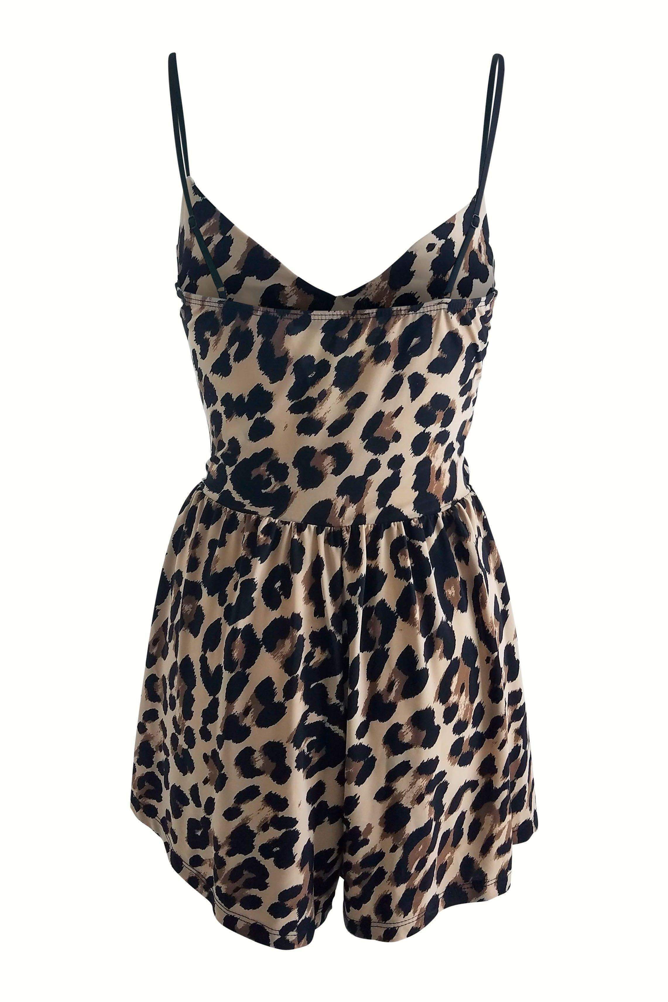 On the Prowl Romper Playsuit in Leopard - Final Sale - Playsuit - Symphony - BKLYN Bodies