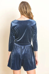 Promenade Romper Playsuit in Blue - Playsuit - Le Lis - BKLYN Bodies