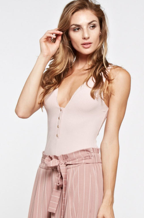 Prospect Knit Bodysuit in Blush-Bodysuit-BKLYN Bodies