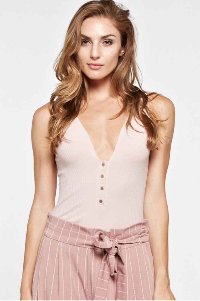 Prospect Knit Bodysuit in Blush - Bodysuit - The Clothing Company - BKLYN Bodies