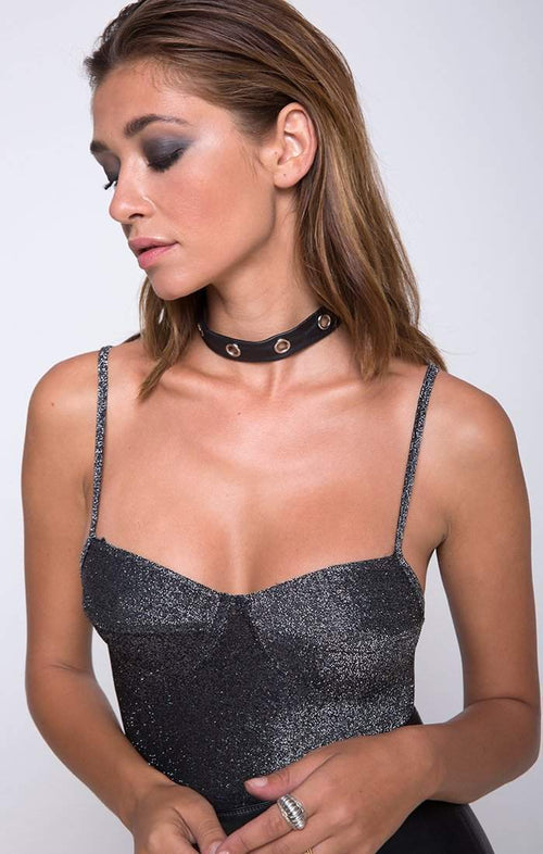 Star Struck Lurex Bustier Bodysuit in Silver - Bodysuit - Motel - BKLYN  Bodies 937111b81