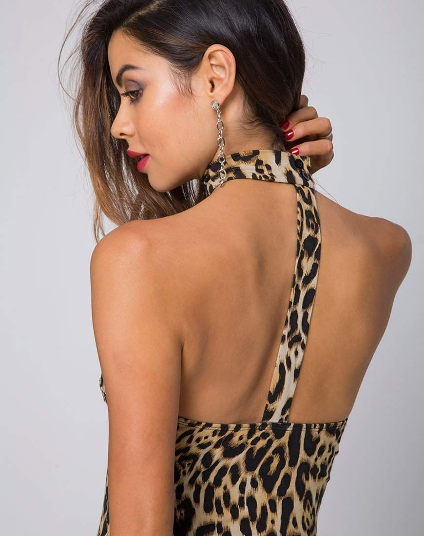 The Hunter Ave Bustier Bodysuit in Leopard - Bodysuit - Motel - BKLYN Bodies ca00c7543